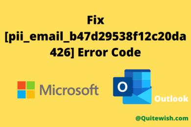 fix [pii_email_b47d29538f12c20da426] Error Code